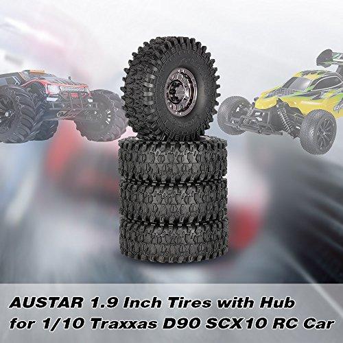 Goolsky 4Pcs AUSTAR AX-5020F 1.9 Zoll 120mm Reifen mit Metall Galvanic Hub für 1/10 Traxxas Redcat SCX10 AXIAL RC 4WD TF2 Rock Crawler