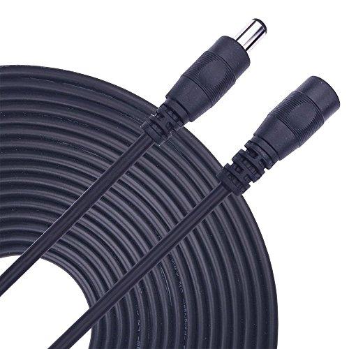 Kabenjee 5m DC Netzteil Verlängerungskabel,5.5mm x 2.1mm DC Verlängerung Verbinder Draht für LED Band/CCTV-Überwachungskameras/Auto,Monitore-Ip Kamera DVR,AHD,DC Netzkabel,DC Verteiler Adapter(22AWG)