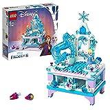 LEGO 41168 Disney Frozen Die Eiskönigin 2 Elsas Schmuckkästchen für Kinder mit ELSA Mini Puppe und Nokk Figur, Schublade mit Schlossfunktion