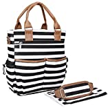 Premium Designer Baby Diaper Bag - Changing Pad & Adjustable Shoulder Strap