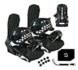 Symbolic Custom-Flow Black Snowboard Bindings & Leash & Stomp Pad Large-XL...
