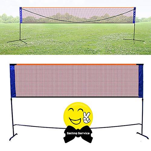 Mixbeek Badmintonnetze Garnituren Mobile Badmintonnetz, Tennisnetz Multifunktionsnetz 3 in 1 Höhenverstellbar Einfache Einrichtung Tragbares Faltbares Schlägersport Netzwerk,5.1 m