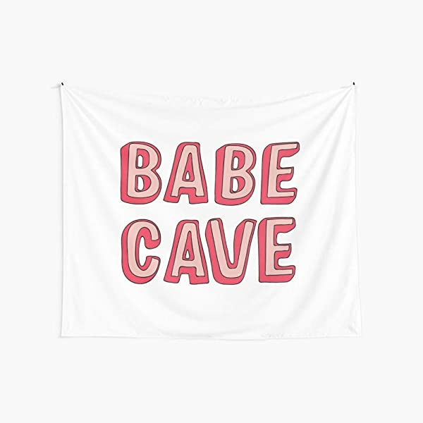 CuYatry Babe Cave Boutique Tapestry Wall Hanging Tapestry Vintage Tapestry Wall Tapestry Micro Fiber Peach Home Decor 59 1X51 2 In