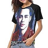 DOMINICHIGGINS Womens Baseball Raglan T Shirts Woman Prince Royce Tees M Black