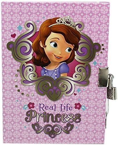 diseños exclusivos púrpura Disney Sofia the First Real Life Princess Large Diary Diary Diary with Lock by Disney  al precio mas bajo
