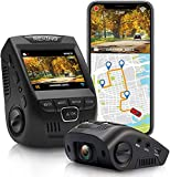 """Rexing V1GW-4K Ultra HD Car Dash Cam w/Built-in GPS Logger, 2.4"""" LCD Screen,Wi-Fi,170° Wide Angle Dashboard Camera Recorder with G-Sensor, WDR, Loop Recording, Supercapacitor, Mobile App, up to 256GB"""