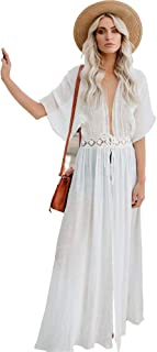 Fashion Beach Dress Lace Sunscreen Cardigan Comfortable & Breathable Skirt Quick Drying for Summer
