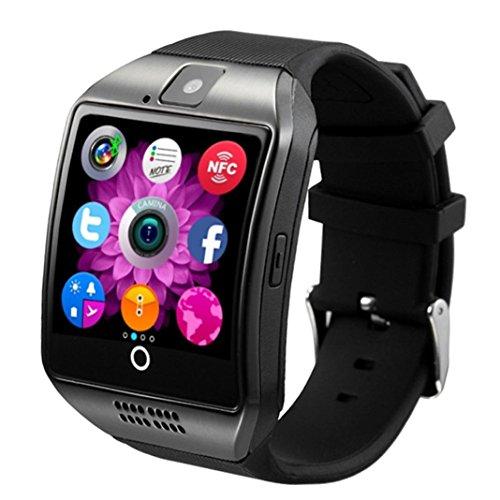 Oyedens smartwatch con Bluetooth GSM SIM Card, con fotocamera, per Android iOS iPhone Samsung LG, Bambino, Black