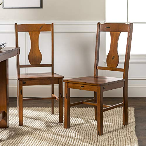 Rustic Farmhouse Wood Dining Room Chairs