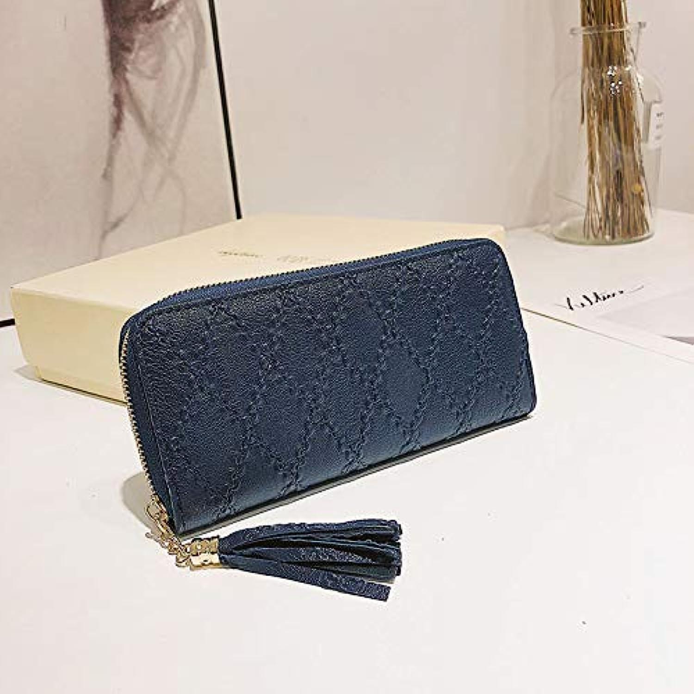 Andre Home Home Home Lange Brieftasche europäische und amerikanische Frauen Brieftasche Mode Linggra Kette Clutch Bag Multi-Karte Handy geldbörse (Farbe   Blau) B07KQGLGPQ 78fbf4