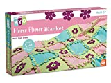 """MindWare Make Your Own Fleece Flower Blanket – Cute & usable DIY Crafts for Girls & Teens – Make a 3""""x 5"""" Fleece Blanket with Slot & tab Method – No Sewing Required – 54 pcs"""