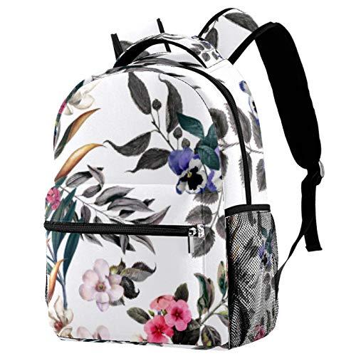 Rucksack mit Wildfrucht-Motiv, Schultasche, Büchertasche, Wanderrucksack, Reiserucksack