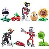 9 PCS Mini Juego de Figuras, Plants vs Zombies Cake Topper Decoración Mini Juguetes Baby Shower Fiesta de Cumpleaños Pastel Decoración Suministros