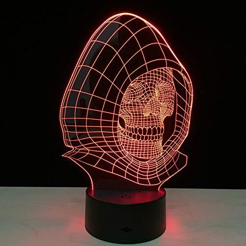 Preisvergleich Produktbild Xiujie 3D Led Xenon Licht 7 Farbe Visuelle Nachtlichter Kinder Usb Uhr Baby Schlafen Nachtlichter Usb Geschenk Nacht Dekoration Freunde Halloween Geschenke