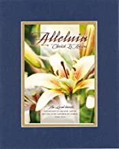 Alleluia Christ Is Risen 8 x 10 Inches Biblical/Religious Verses set in Double Beveled Matting (Blue On Gold) - A Timeless and Priceless Poetry Keepsake Collection