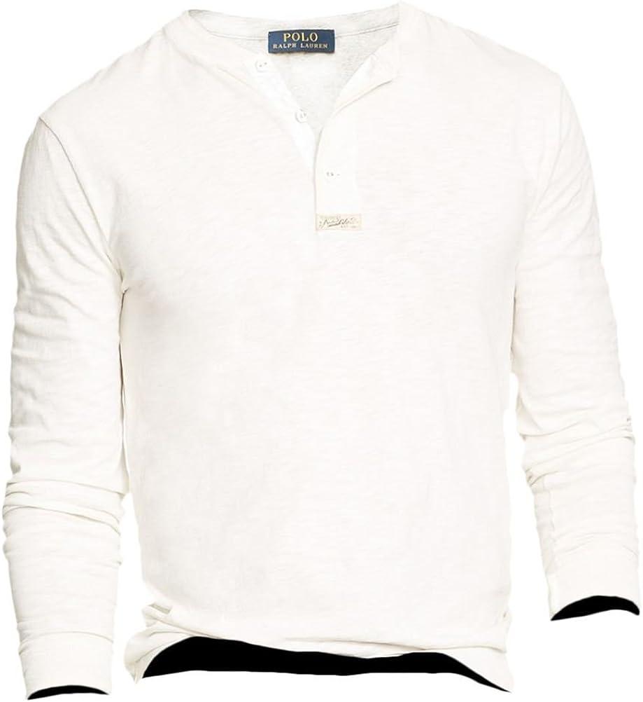 Polo Ralph Lauren Men's Textured Longsleeve Henley Shirt