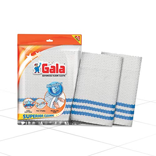 Gala Microfiber Advance Floor Cleaning Cloth (Pocha) for Mopping - Pack of 2, Wet and Dry Floor Cleaning Cloth,Pottu, Pocha,Microfiber cloth for car and bike cleaning