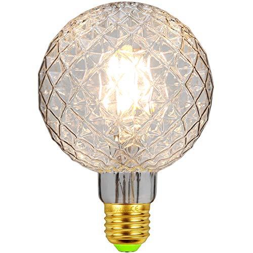 LED-Lampen Vintage Glühbirne Globus Kristall Edison Birne 4W 220 / 240V E27 Dekorative Glühbirne Warmweiß (G95 Clear)