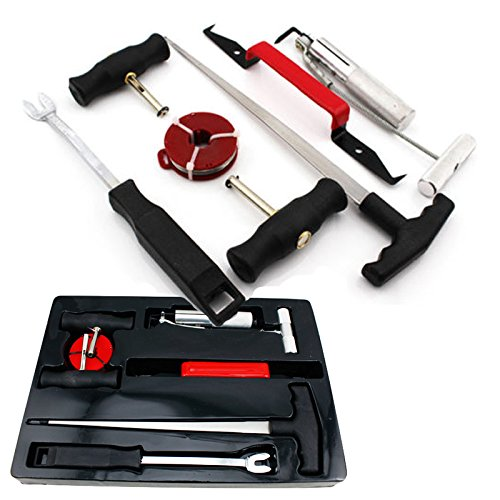 Hengda® 7-tlg Set Windschutzscheiben Werkzeug Autoglas Reparatur Scheibenausbau Ausbau KFZ