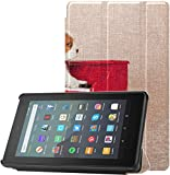 Cover Fire Kindle 7 Case A FUUNY Dog Play The Piano Child Kindle Case para Tableta Fire 7 (novena ge...