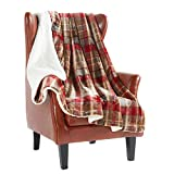 MERRYLIFE Sherpa Throw Blanket for Couch   Ultra-Plush Decorative Soft Colorful   Plush Travel Chair Blanket Throws(60' 70',Love Urban