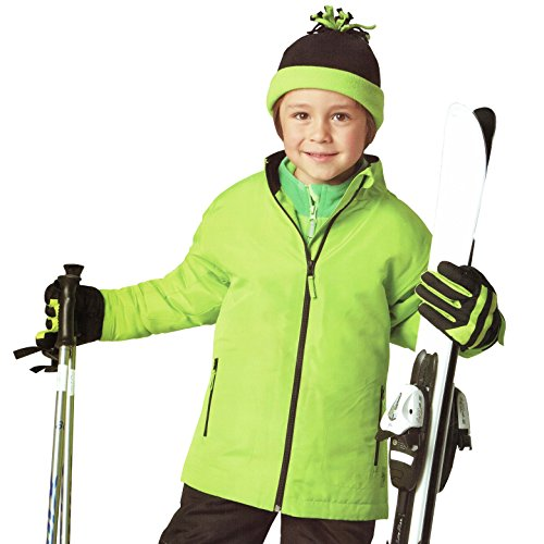 Kinder Skijacke Snowboardjacke Jacke Winterjacke Wind- und wasserabweisend Bionic Finish Eco Oeko Tex grün (110/116)