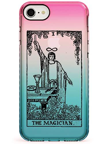 Il Mago Tarocchi Pink Impact Cover per iPhone 7 Plus TPU Protettivo Phone Leggero con Psichico Astrologia Fortuna Occulto Magia