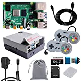 GeeekPi Raspberry Pi 4 8GB RAM Starter Kit with 64GB Micro SD Card, Nes4Pi Case, 5V 3A USB-C Power Supply, 2PCS Game Controllers, Heatsinks, Cooling Fan, Micro HDMI Cable and SD Card Reader