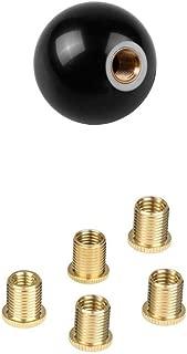 Black 8 Billiard Round M121.25 Car Gear Shift Knob And M10X1.5 Nuts Insert