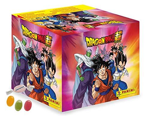 Panini Dragon Ball Super Sticker - Sammelsticker 1 Display ( je 36 Tüten) zusätzlich erhalten Sie 1 x Fruchtmix Sticker-und-co Bonbon