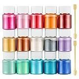 Funxim Epoxidharz Farbe 15er×10g, Seifenfarbe Set Metallic Farbe Resin Farbe, Mica Powder Pigmente...