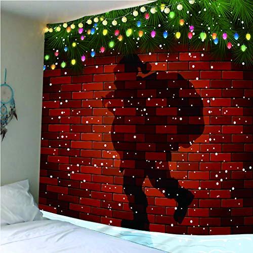 yiyishop Tapisseriedekoration Santa Claus-Schatten Tischdecke Strandtuch Yoga-Matte Bettdecke Heimtextilien Wandkunst 240(B) X260(W) cm