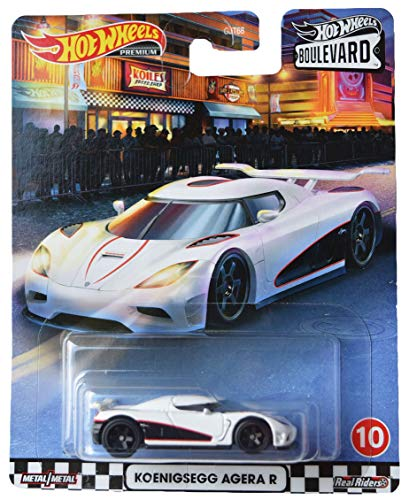 Mattel Hot Wheels Boulevard Koenigsegg Agera R, White