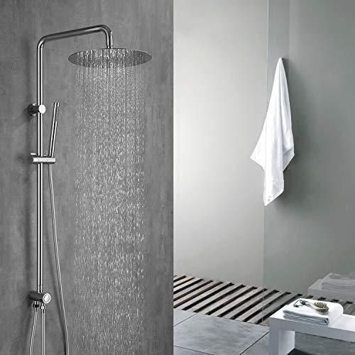 HOMELODY Duschsystem ohne Armatur, Duschsystem Regendusche mit Umstellung für die Wandmontage, Duschset mit Edelstahl Überkopfdusche und Handbrause Duschsäule
