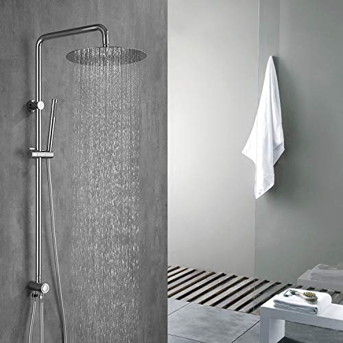Homelody Duschsystem ohne Armatur mit Umstellung für die Wandmontage Duschset mit Kopfbrause und Handbrause Duscharmatur Brausekopf für Badezimmer