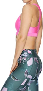 Rockwear Activewear Women's Magnolia Mi Keyhole Zip Sports Bra From size 4-18 Medium Impact Bras For