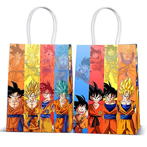12 PCS Dragon Ball Birthday Party Goody Bags for Dragon Ball Theme Party Decorations Supplies