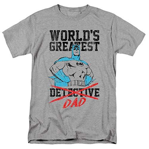 Damen Offiziell Grau Retro Dc Comics Batgirl Batman T-Shirt T-Shirt Top