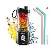 Vaeqozva Portable Blender USB Rechargeable Personal Mixer Fruit 12.8 Oz Mini Blender for Smoothie, Fruit Juice, Protein Shake, Milk Shakes