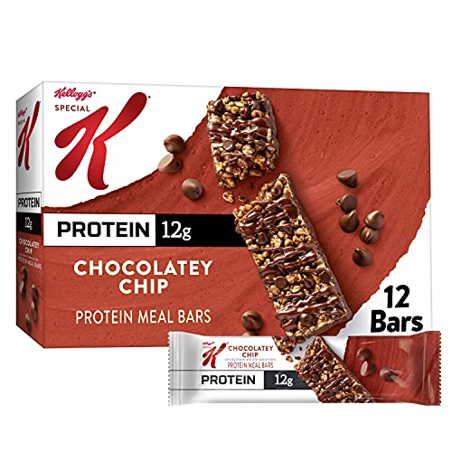 Kellogg's Special K Protein Bars, Meal Replacement, Protein Snacks, Chocolatey Chip, 19oz Box (12 Bars)