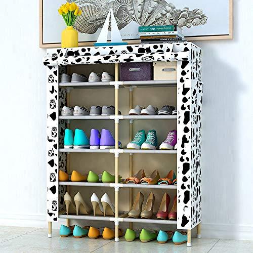 YUNXIAOHONG Simple Shoe Rack - Oxford Cloth Multi-Layer Storage Shoe Cabinet