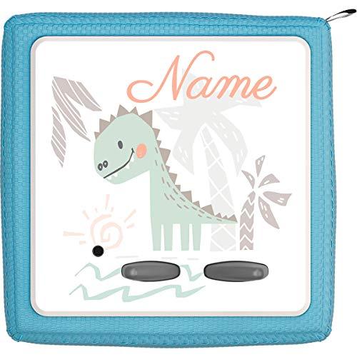 Coverlounge® Schutzfolie passend für die Toniebox mit Namen personalisiert   Dinosaurier Dino