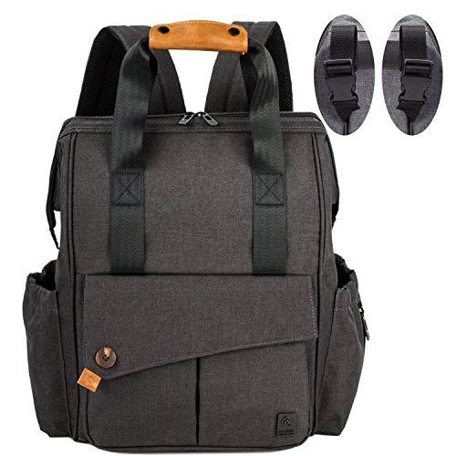 ALLCAMP baby luierrugzak luiertas rugzak met aankleedkussen grote capaciteit tassen, grote capaciteit babyrugzak geen formaldehyde reisrugzak ondersteunt elke kinderwagen Babyluierrugzakken, luiertas kinderen, schoudertassen, wikkeltassen X-Large zwart