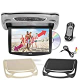 Car Roof Mount DVD Player Monitor 13.3 inch Vehicle Flip Down Overhead Screen- HDMI SD USB Card...