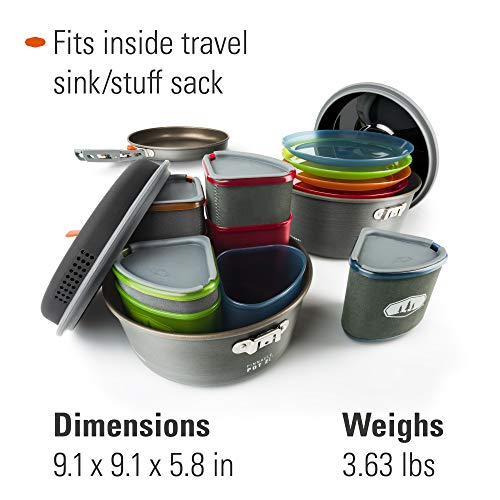 Product Image 1: GSI Outdoors, Pinnacle Camper Cooking Set for Camping and Backpacking, 2 to 4 Person