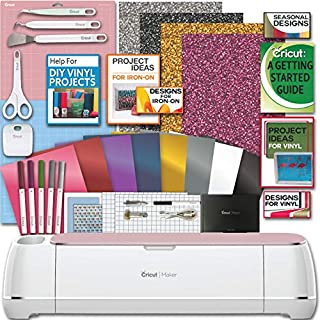 Cricut Maker Machine Bundle 1 Beginner Cricut Guide Smooth Heat Transfer Permanent Vinyl..