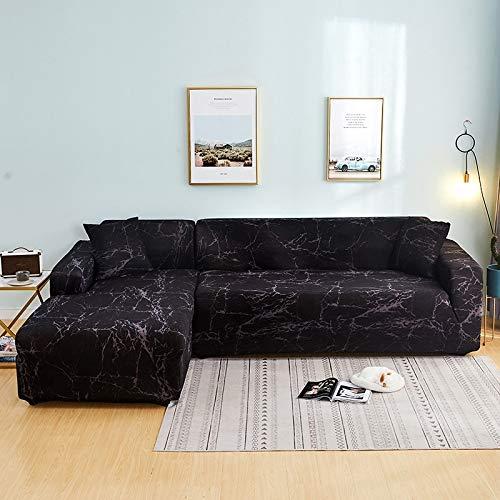 ASCV Funda de sofá elástica Funda de sofá geométrica Funda de sofá elástica para Sala de Estar Esquina de Mascotas en Forma de L Chaise Sofá Funda A9 4 plazas
