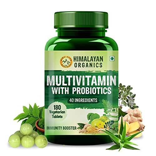 Himalayan Organics Multivitamin for Men & Women with 40 Ingredients - 180 Tablets - with Probiotics