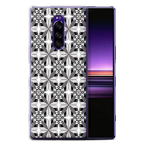 eSwish telefoonhoesje/Cover/Skin/SXP-GC/Black Fashion Collection Sony Xperia 1/XZ4 2019 Symmetrie Tegels