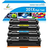 True Image Compatible Toner Cartridge Replacement for HP 201A 201X CF400X CF400A HP Color Laserjet Pro MFP M277dw M252dw M277c6 CF401X CF402X CF403X M252 M277 Toner (Black Cyan Yellow Magenta, 4-Pack)